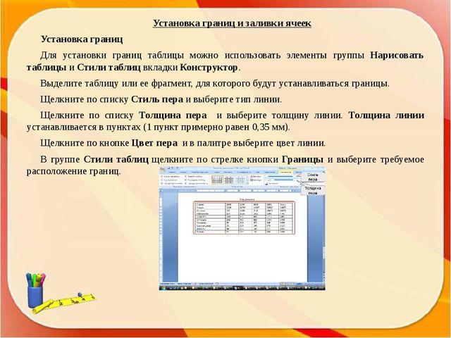 Установка режима обтекания текстом Вставленная в документ таблица по умолчани...