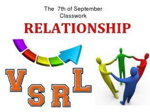 The 7th of September Classwork