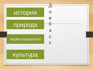 Донбасс история природа первооткрыватели культура