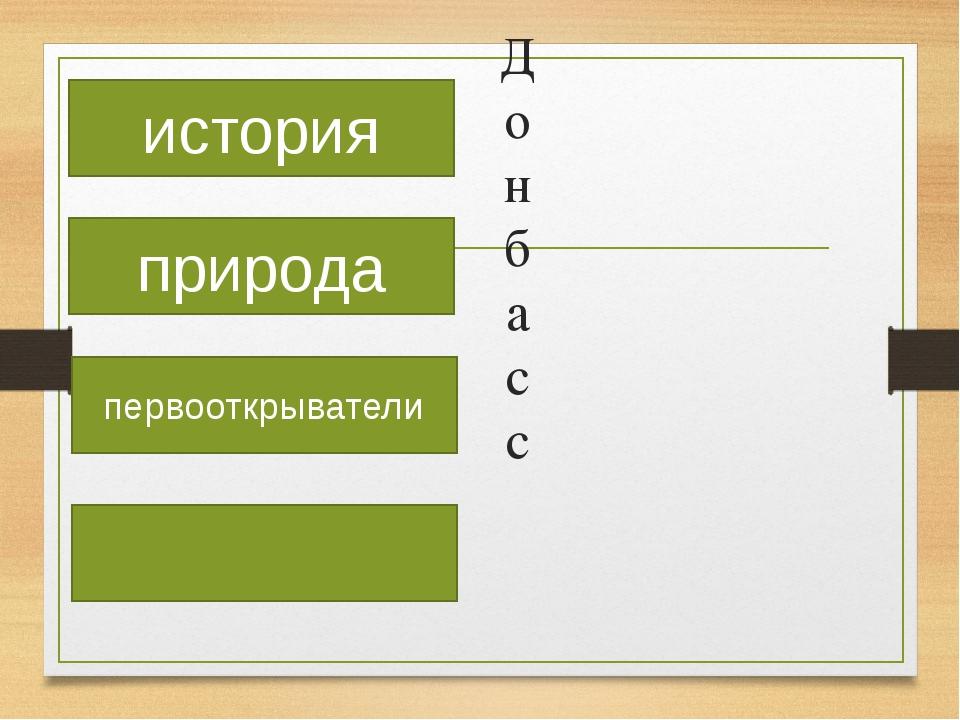 Донбасс история природа первооткрыватели
