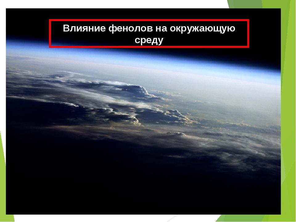 Влияние фенолов на окружающую среду