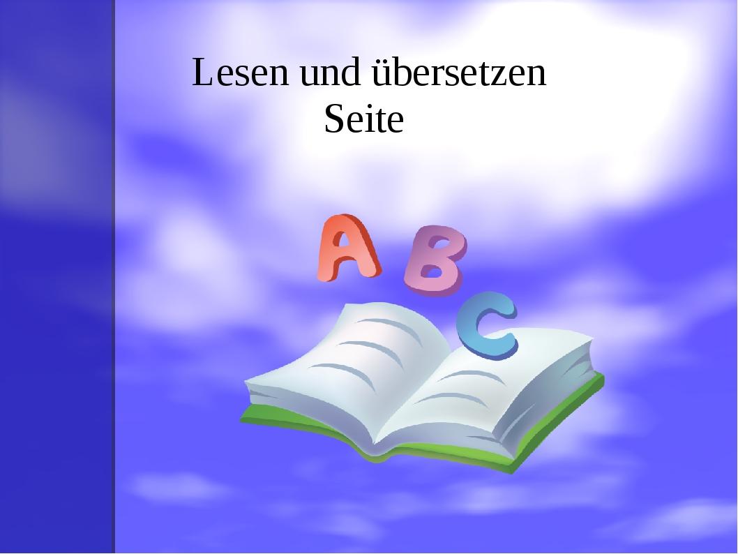 Lesen und übersetzen Seite