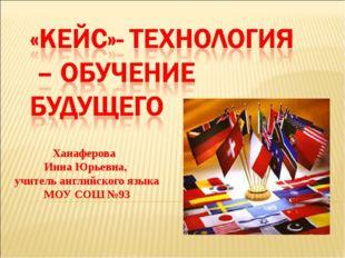 Ханаферова Инна Юрьевна, учитель английского языка МОУ CОШ №93
