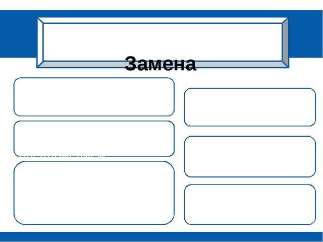 Замена *сложного предложения – простым предложением; *однородных членов обоб...