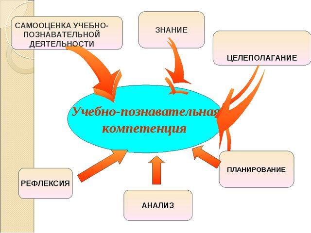 Учебно-познавательная компетенция ЦЕЛЕПОЛАГАНИЕ САМООЦЕНКА УЧЕБНО-ПОЗНАВАТЕЛЬ...
