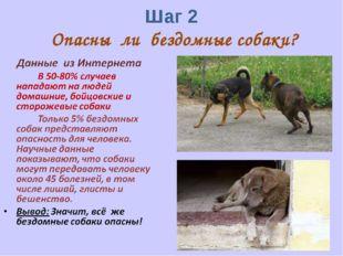 Шаг 2 Опасны ли бездомные собаки?