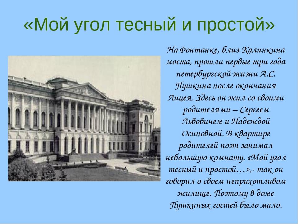 где жил пушкин в спб фото ребенок выезжает