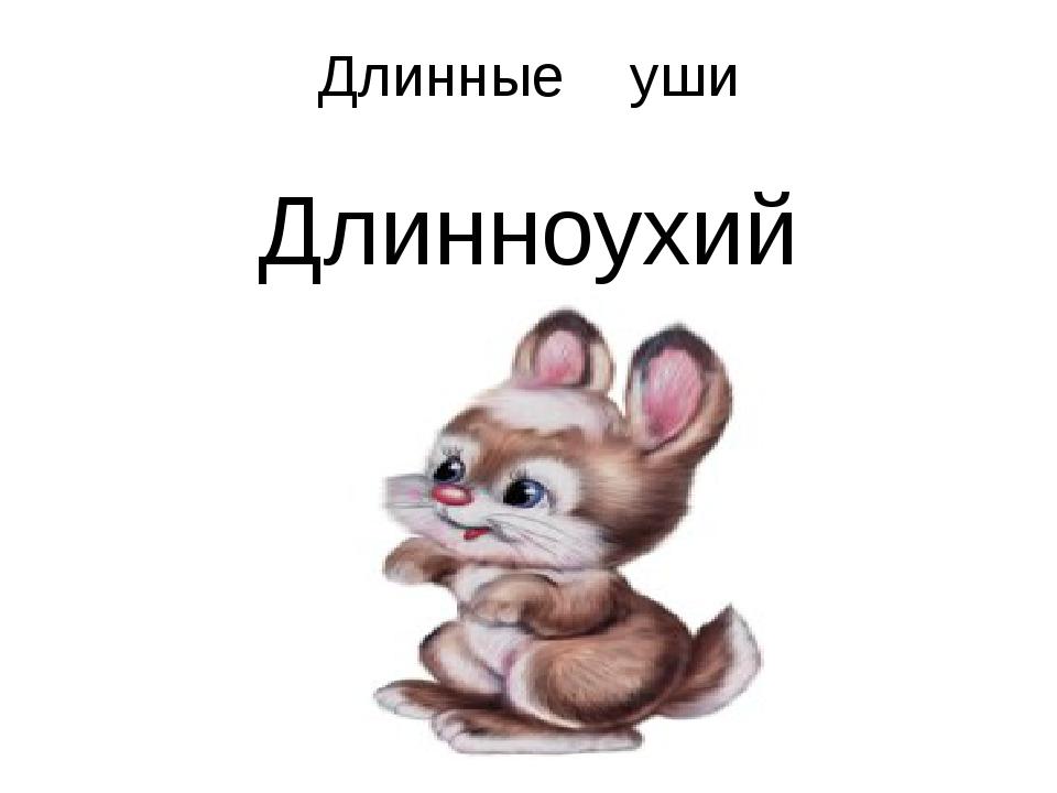 Длинные уши Длинноухий