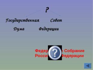 ? Государственная Совет Дума Федерации Федеральное Собрание Российской Федера