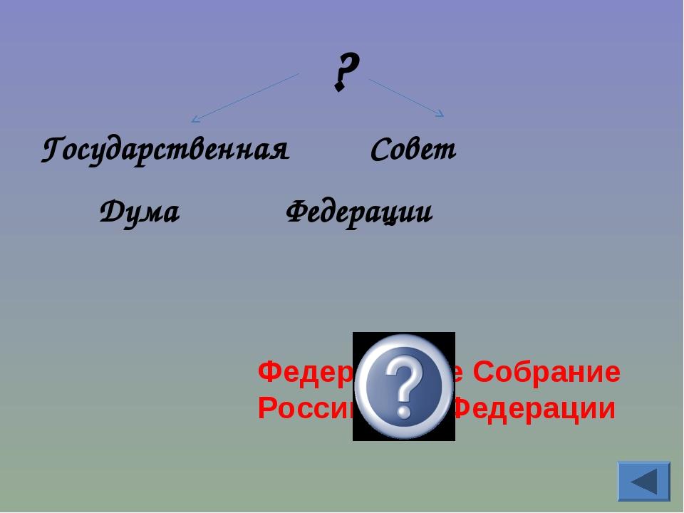 ? Государственная Совет Дума Федерации Федеральное Собрание Российской Федера...