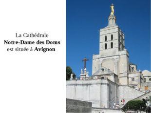 LaCathédrale Notre-Dame des Doms est située àAvignon