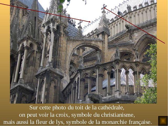Sur cette photo du toit de la cathédrale, on peut voir la croix, symbole du c...