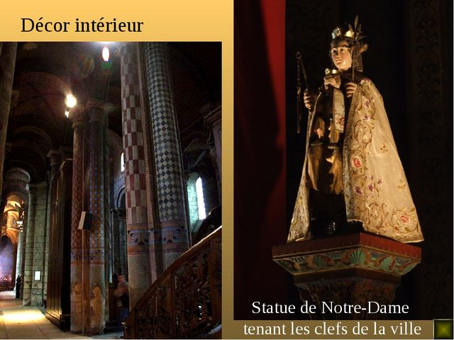 Décor intérieur Statue de Notre-Dame tenant les clefs de la ville