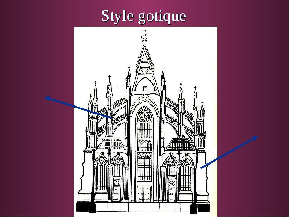 Style gotique Arc-boutant Poteau de charge