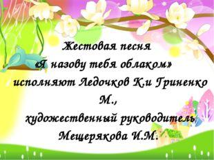 Жестовая песня «Я назову тебя облаком» исполняют Ледочков К.и Гриненко М., ху