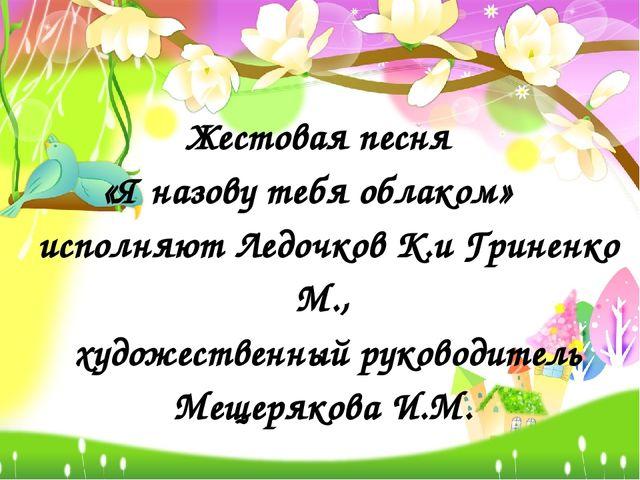 Жестовая песня «Я назову тебя облаком» исполняют Ледочков К.и Гриненко М., ху...