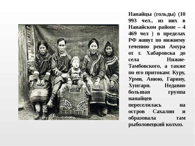 Нанайцы (гольды) (10 993 чел., из них в Нанайском районе – 4 469 чел ) в пред...