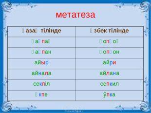 метатеза