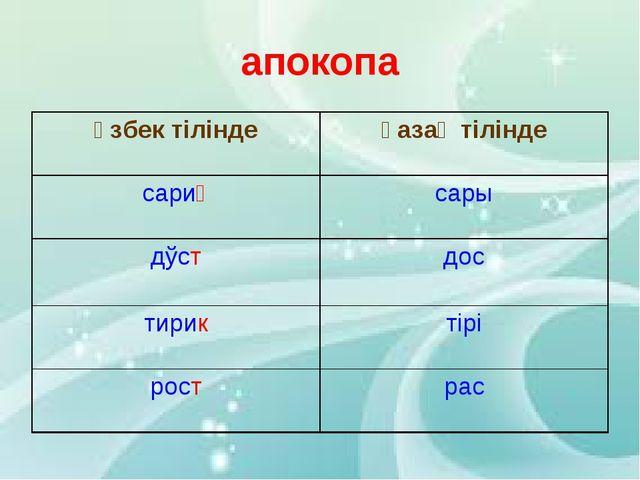 апокопа