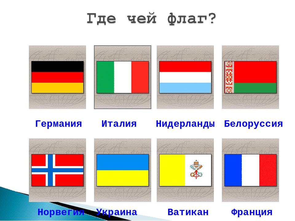 Германия Италия Нидерланды Белоруссия Норвегия Украина Ватикан Франция