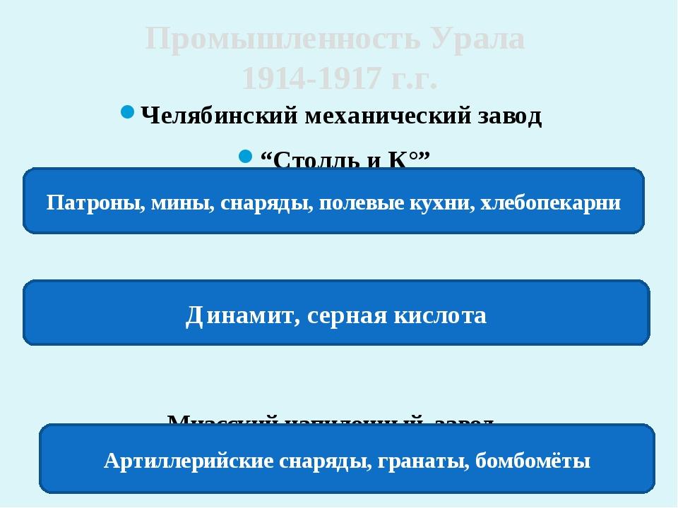 """Челябинский механический завод """"Столль и К°"""" Кыштымские заводы Миасский напил..."""