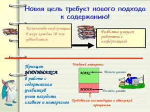 Количество информации в мире каждые 10 лет удваивается Развитие умения работ