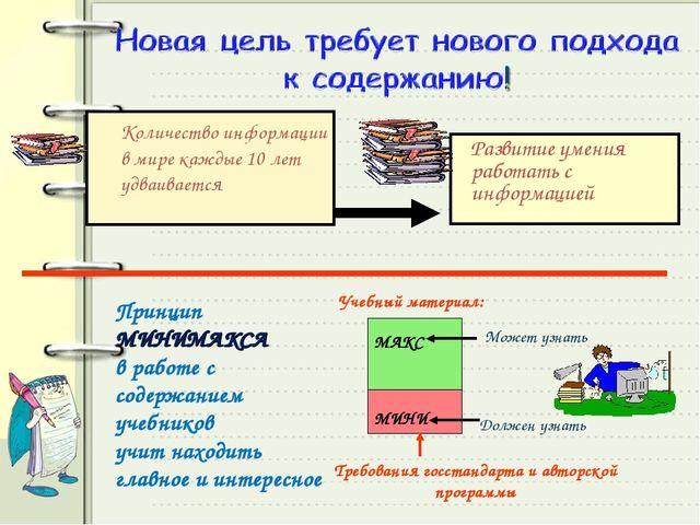 Количество информации в мире каждые 10 лет удваивается Развитие умения работ...