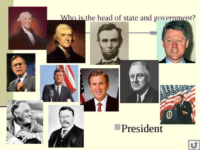 Who is the head of state and government? President