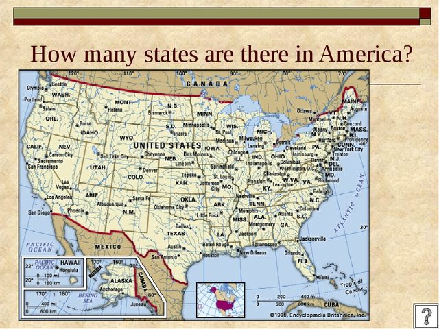 How many states are there in America?