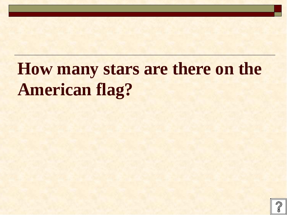 How many stars are there on the American flag?