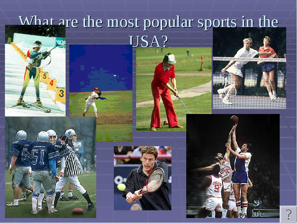 What are the most popular sports in the USA?