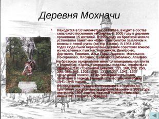 Деревня Мохначи Находится в 53 километрах от Ржева, входит в состав сельског