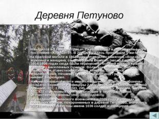 Деревня Петуново Находится в 13 километрах от Ржева, входит в состав сельско