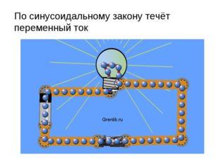 По синусоидальному закону течёт переменный ток