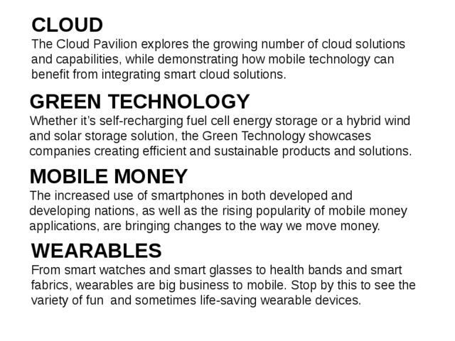 CLOUD The Cloud Pavilion explores the growing number of cloud solutions and c...
