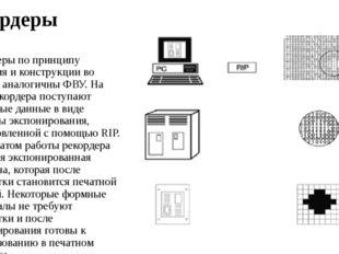 Рекордеры Рекордеры по принципу действия и конструкции во многом аналогичны Ф