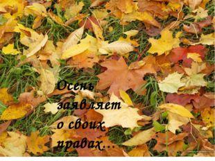 Осень заявляет о своих правах…