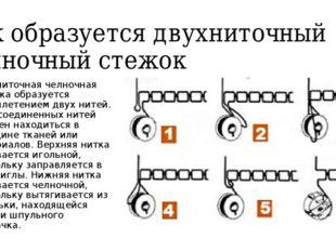 Как образуется двухниточный челночный стежок Двухниточная челночная строчка о