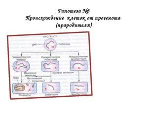 Гипотеза №3 Происхождение клеток от прогенота (прародителя)