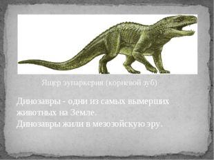 Динозавры - одни из самых вымерших животных на Земле. Динозавры жили в мезозо