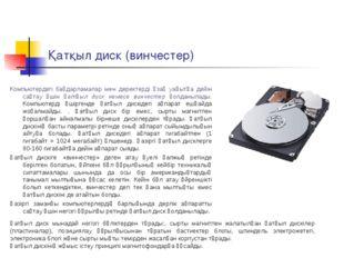 Қатқыл диск (винчестер) Компьютердегі бағдарламалар мен деректерді ұзақ уақыт