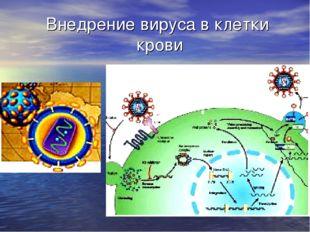 Внедрение вируса в клетки крови