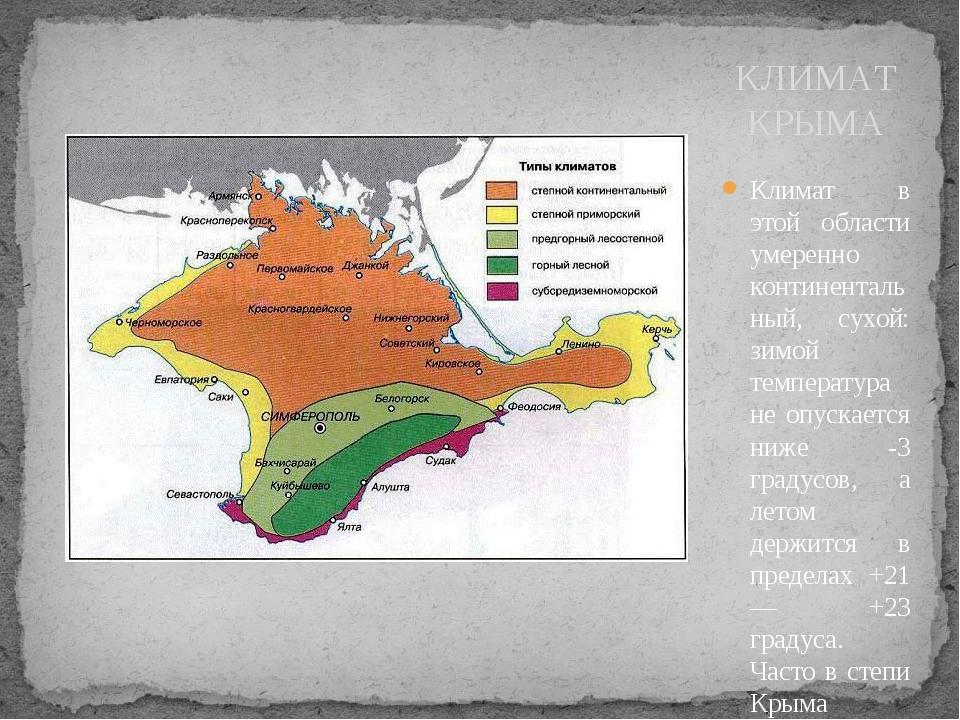 Климат в этой области умеренно континентальный, сухой: зимой температура не о...
