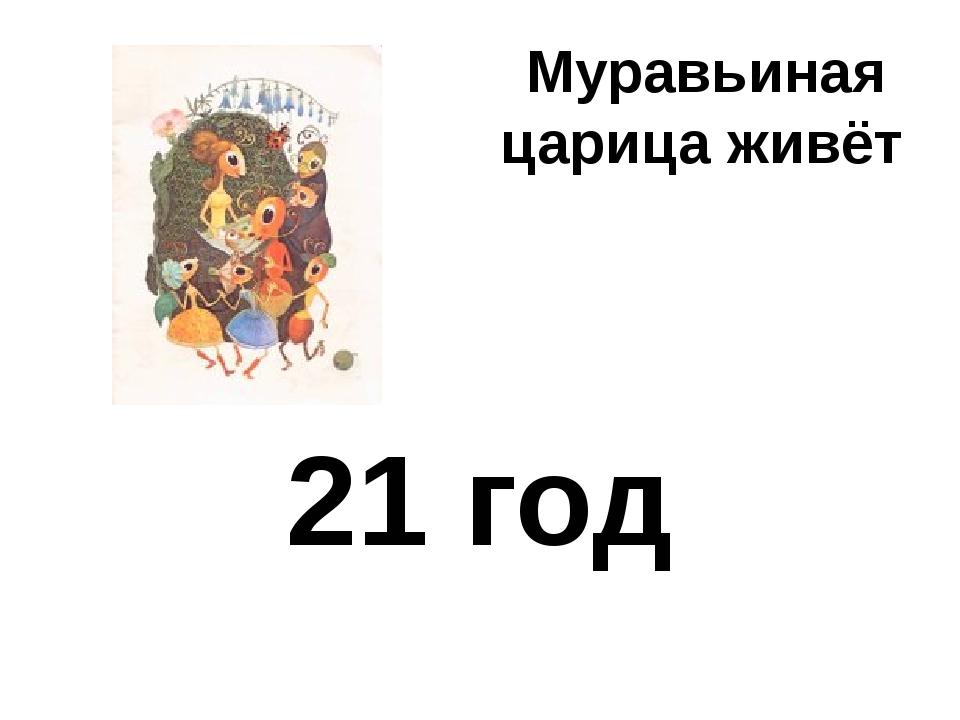 Муравьиная царица живёт 21 год