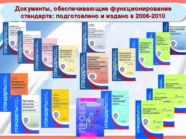 Документы, обеспечивающие функционирование стандарта: подготовлено и издано в...