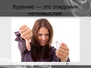 Курение — это эпидемия легкомыслия.