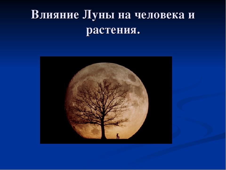 Луна и человек воздействие