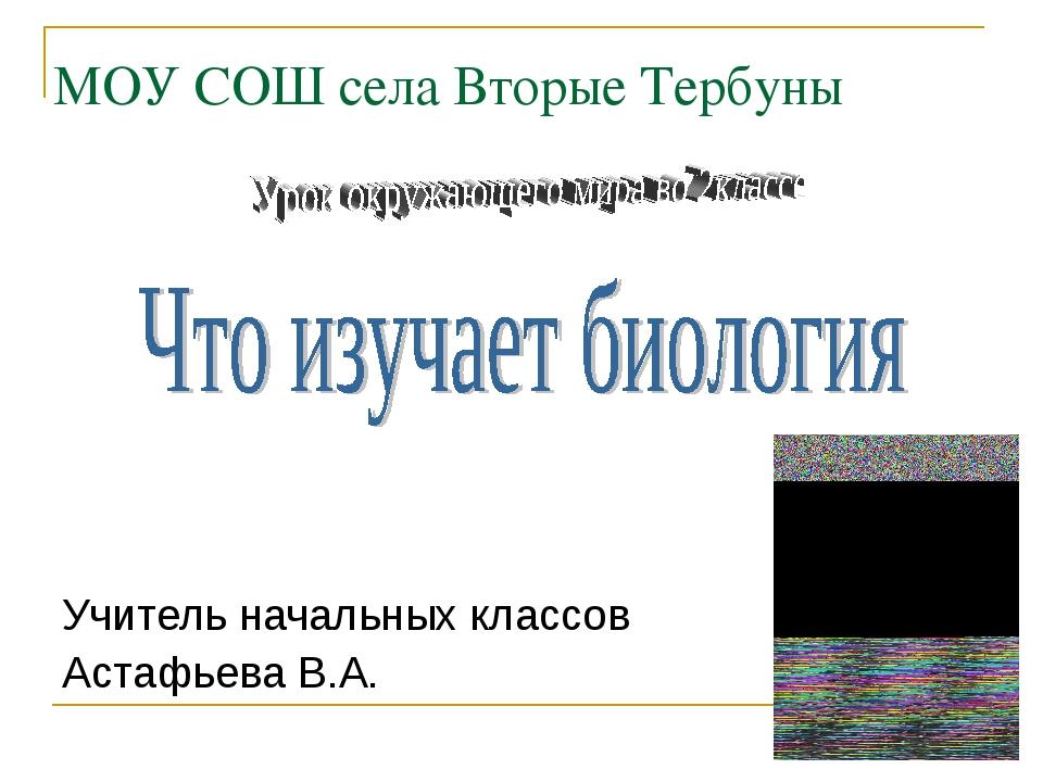 МОУ СОШ села Вторые Тербуны Учитель начальных классов Астафьева В.А.