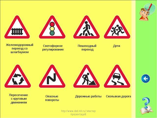 http://www.deti-66.ru/ Мастер презентаций Железнодорожный переезд со шлагбаум...