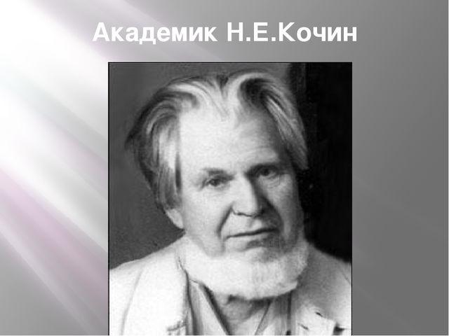 Академик Н.Е.Кочин